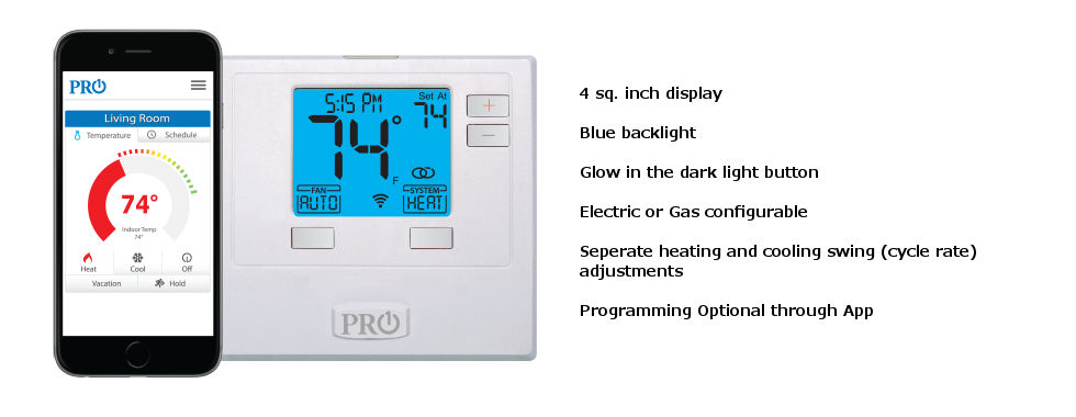 Pro1 T701i WiFi Thermostat